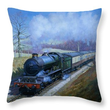 Plymouth Bound. Throw Pillow by Mike  Jeffries
