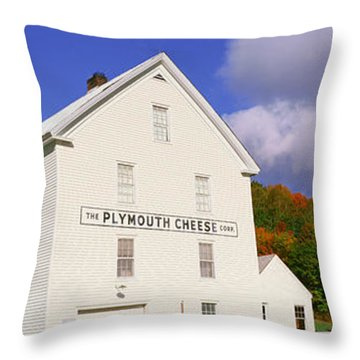 Plymouth Cheese Corporation In Autumn Throw Pillow