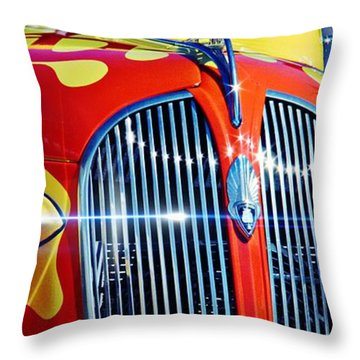 Throw Pillow featuring the photograph Plymouth Oldie by Aaron Berg
