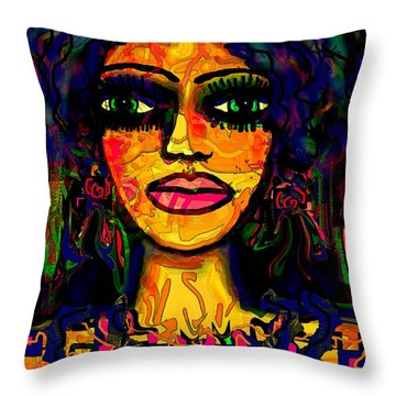 Pocahontas Throw Pillow by Natalie Holland