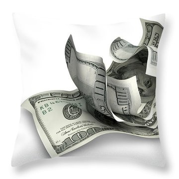 Pocket Change Throw Pillow