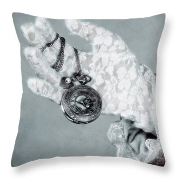 Pocket Watch Throw Pillow by Joana Kruse