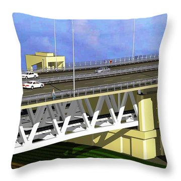 Podilsky Bridge Throw Pillow