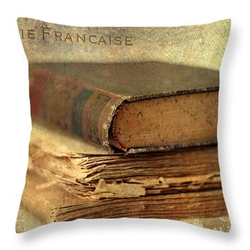 Poesie Francaise Throw Pillow by Jessica Jenney