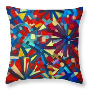 Throw Pillow featuring the painting Poetry In Motion  051108 by Selena Boron