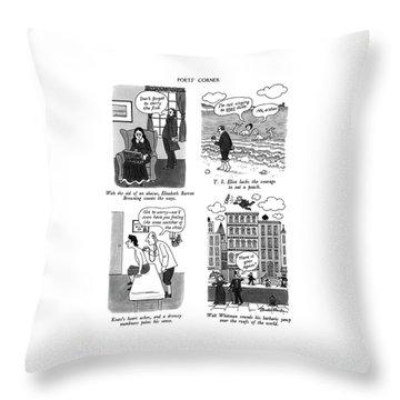 Poets' Corner Throw Pillow