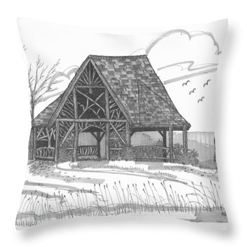 Poet's Walk 1 Throw Pillow