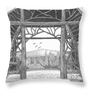 Poet's Walk 2 Throw Pillow