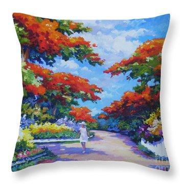 Poinciana Paradise  20x16 Throw Pillow