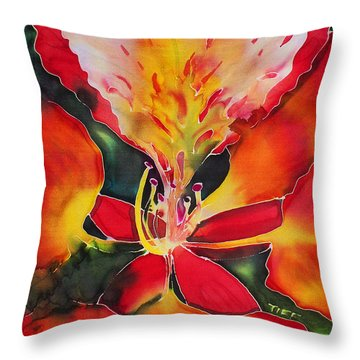 Poinciana Royale Throw Pillow