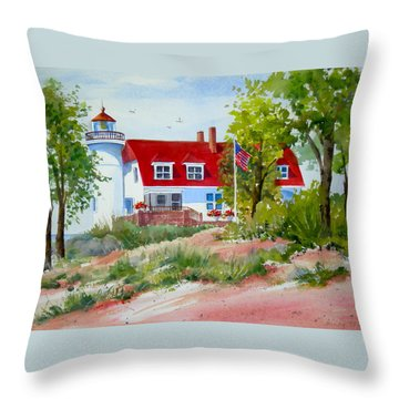 Point Betsie Throw Pillow