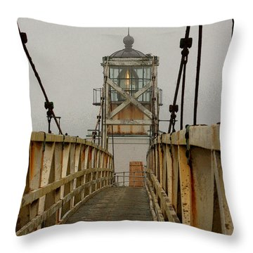 Point Bonita Lighthouse Throw Pillow by Art Block Collections
