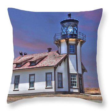 Point Cabrillo  Throw Pillow by Kandy Hurley