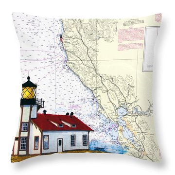 Point Cabrillo Light Station Throw Pillow