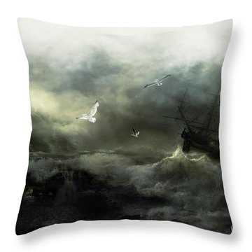 Point Danger Throw Pillow