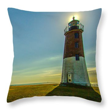 Point Judith Light Throw Pillow