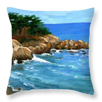 Point Lobos Coast Throw Pillow