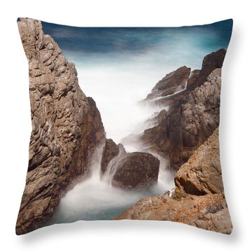 Point Lobos Number Two Throw Pillow by Catherine Lau