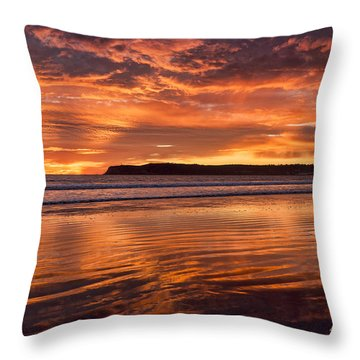 Point Loma Fire Throw Pillow