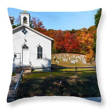 Point Mountain Community Church - Wv Throw Pillow by Kathleen K Parker