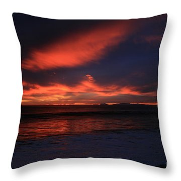 Throw Pillow featuring the photograph Point Mugu 1-9-10 Just After Sunset by Ian Donley