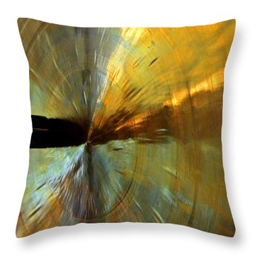 Point Of Impact In Copper And Green Throw Pillow