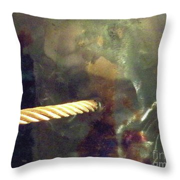 Point Of Insertion Throw Pillow