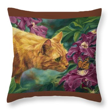 Point Of Interest Throw Pillow by Lucie Bilodeau
