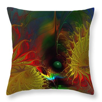 Point Of No Return-abstract Fractal Art Throw Pillow