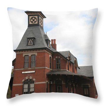 Point Of Rocks Throw Pillow by Thomas Marchessault