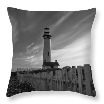 Point Pigeon Lighthouse Throw Pillow by Jonathan Nguyen