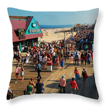Point Pleasant Boardwalk Throw Pillow