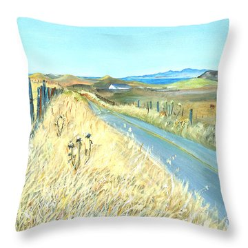 Point Reyes Country Road Throw Pillow by Asha Carolyn Young