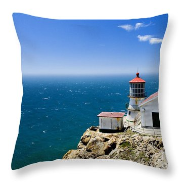 Point Reyes Lighthouse California Throw Pillow