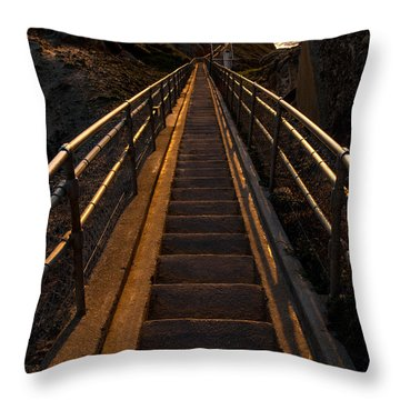 Point Reyes Lighthouse Staircase Throw Pillow