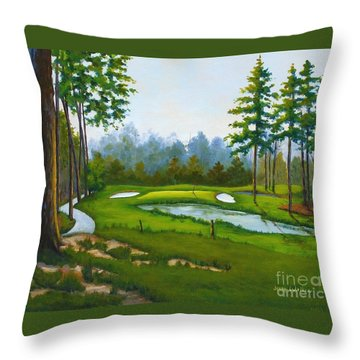 Point South #5 Throw Pillow