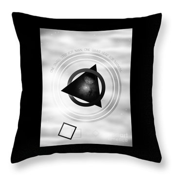 Point To The Moon Throw Pillow by Phil Perkins