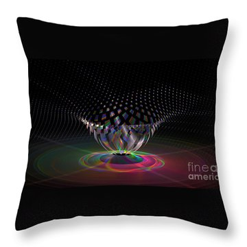 Point   V   One Throw Pillow by Peter R Nicholls