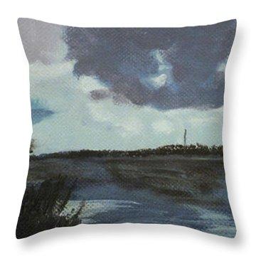 Pointe Of Chein Blue Skies Throw Pillow