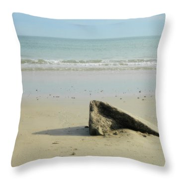 Pointed Rock At Squibby Throw Pillow by Kathy Barney