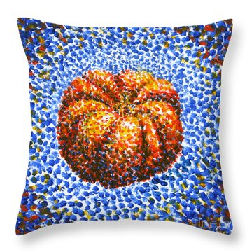 Pointillism Pumpkin Throw Pillow by Samantha Geernaert