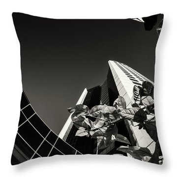 Pointing To The Sky Center Throw Pillow