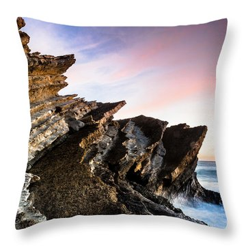 Pointing To The Sky Throw Pillow by Edgar Laureano