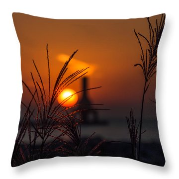 Points Of Light Throw Pillow by James  Meyer