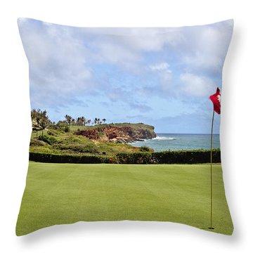 Poipu Bay #16 Throw Pillow by Scott Pellegrin