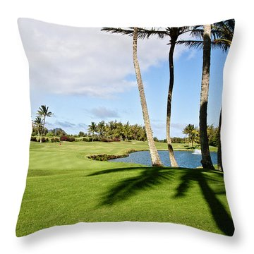 Poipu Bay #18 Throw Pillow by Scott Pellegrin