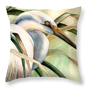 Poise Throw Pillow by Lyse Anthony