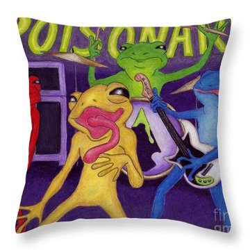 Poison-arrow Frog Band Throw Pillow