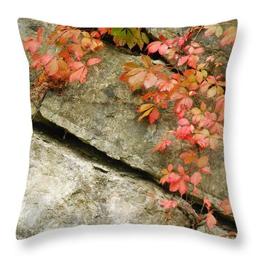 Poison Ivy Throw Pillow by Mary Carol Story