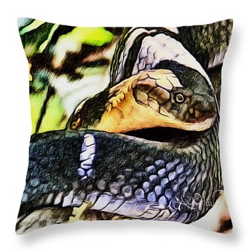 Poisonous Observance Throw Pillow